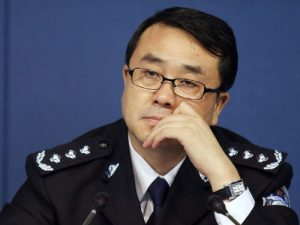 epa03097330 (FILE) A file photo dated 21 October 2008 of Wang Lijun, top cop of Chongqing Municipality, listening to a question at the press conference of a police campaign in Chongqing, China. Chongqing announced Wang had embarked on a vacation-style treatment after wide speculation that Wang seeked asylum in a United States consulate in Chengdu but failed. EPA/LI MIN CHINA OUT